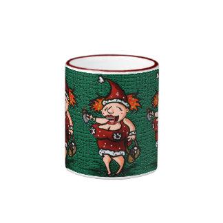 Bizzy's Christmas Buzz Ringer Coffee Mug