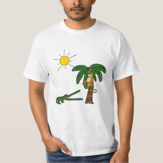 BJ- Croc and Monkey Beach Shirt