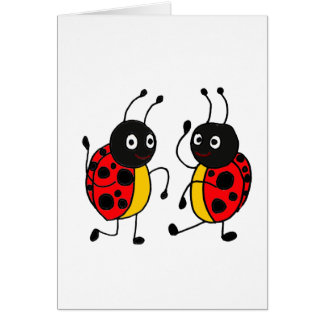 BJ- Dancing Ladybugs Card
