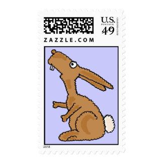 BJ- Funny Bunny Rabbit Postage Stamps