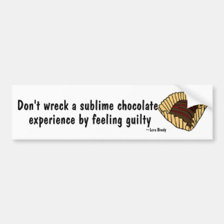 BJ- Funny Chocolate Lover's Bumper Sticker