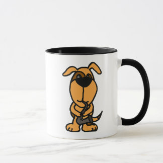 BJ- Funny Dog Playing the Saxophone Mug