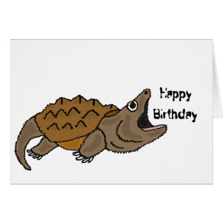 BJ- Funny Snapping Turtle Birthday Card