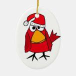 BJ ornamento cardinal rojo del navidad del pájaro Ornamentos De Reyes
