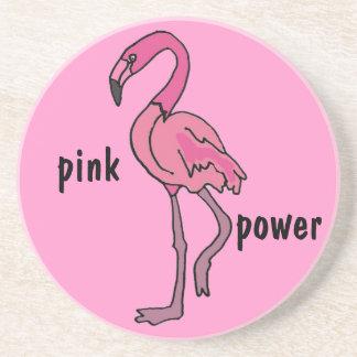 BJ- Pink Power Flamingo Coasters