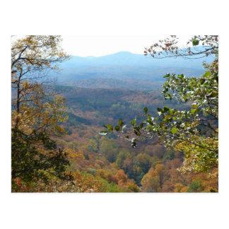 BJ postal de la montaña del GA