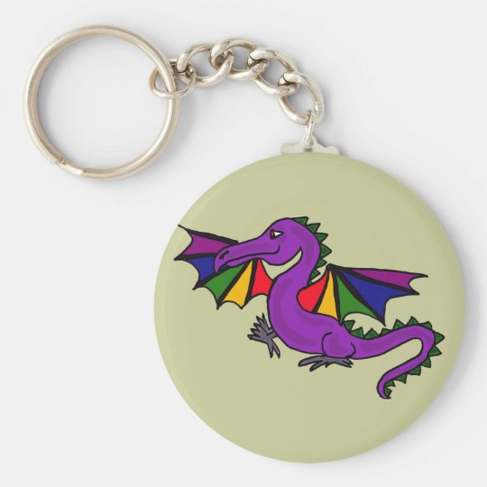 BJ- Rainbow Dragon Keychain