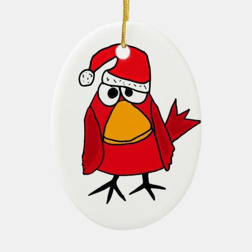 BJ- Red Cardinal Bird Christmas Ornament