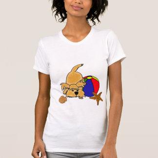 BJ- Scruffy Puppy at the Beach Shirt