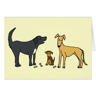 BJ- Thinking of you dog cartoon Card