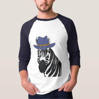 BJ- Zebra in a Cowboy Hat Shirt