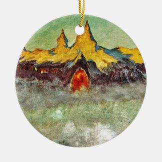 Bjerg - Troll Mountain Ceramic Ornament
