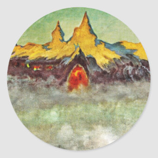 Bjerg - Troll Mountain Classic Round Sticker