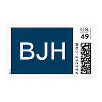 BJH custom monogram postage for Bar Mitzvah