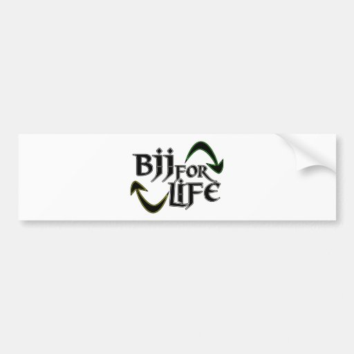 BJJ 4 Life Car Bumper Sticker