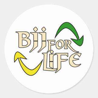 BJJ 4 Life Classic Round Sticker