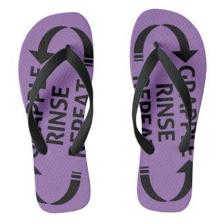 BJJ alineó las sandalias (la correa púrpura)