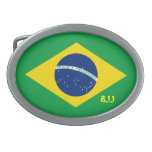 BJJ, brasilen@o Jiu-Jitsu Hebillas Cinturon Ovales