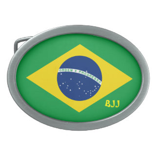 BJJ brasilen o Jiu-Jitsu Hebillas Cinturon Ovales