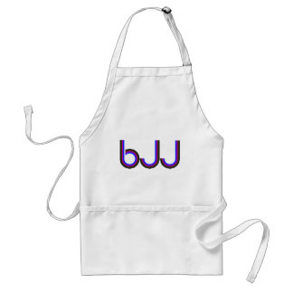 BJJ - Brasilen@o Jiu Jitsu - letras coloreadas Delantal