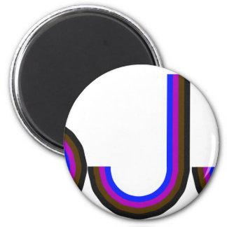 BJJ - Brasilen@o Jiu Jitsu - letras coloreadas Imán Redondo 5 Cm