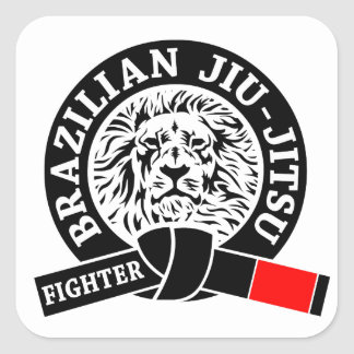 BJJ - Brasilen@o Jiu - Jitsu Pegatinas Cuadradas Personalizadas
