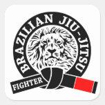 BJJ - Brasilen@o Jiu - Jitsu Pegatinas Cuadradas