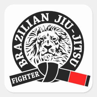 BJJ - Brasilen o Jiu - Jitsu Pegatinas Cuadradas