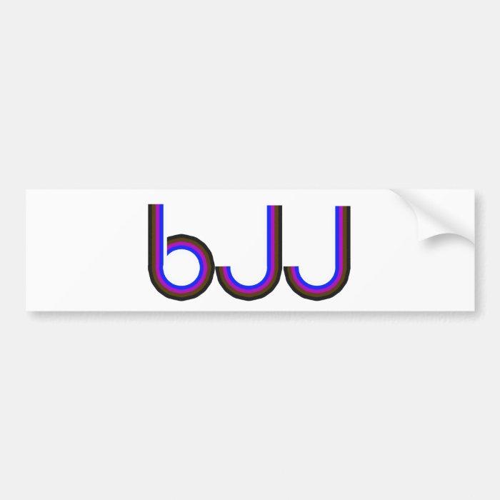 BJJ - Brazilian Jiu Jitsu - Colored Letters Bumper Sticker