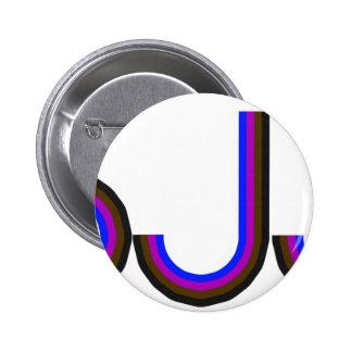 BJJ - Brazilian Jiu Jitsu - Colored Letters Button
