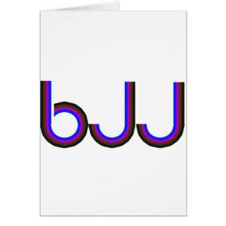 BJJ - Brazilian Jiu Jitsu - Colored Letters Card