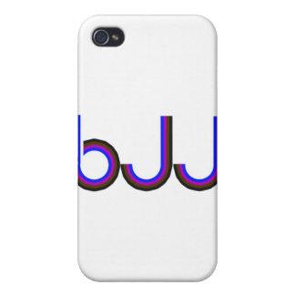 BJJ - Brazilian Jiu Jitsu - Colored Letters Covers For iPhone 4