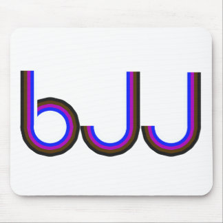 BJJ - Brazilian Jiu Jitsu - Colored Letters Mouse Pad