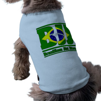 BJJ Brazilian Jiu Jitsu Flag MMA Dog Tee