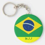 BJJ, Brazilian Jiu Jitsu Basic Round Button Keychain