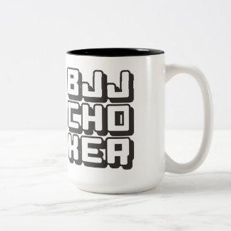 BJJ CHOKER - Brazilian Jiu-Jitsu Black Belt, Onyx Two-Tone Coffee Mug