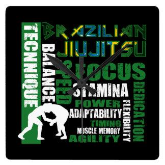 """""""BJJ Elements"""" Brazilian Jiu Jitsu Wall Clock"""