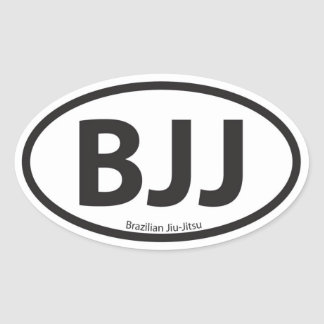 BJJ Euro Style Car Emblem Stickers