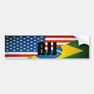 BJJ Flags Bumper Sticker