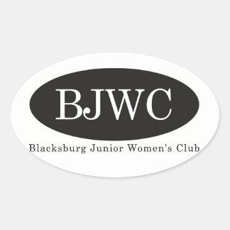 BJWC Oval Sticker
