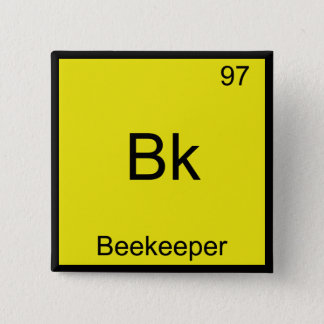 Bk - Beekeeper Funny Chemistry Element Symbol Tee Button