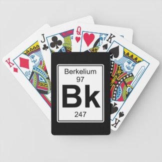 Bk - berkelio barajas de cartas