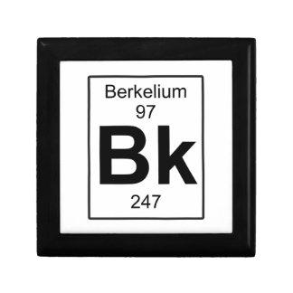 Bk - berkelio joyero cuadrado pequeño
