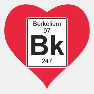 Bk - berkelio pegatina en forma de corazón