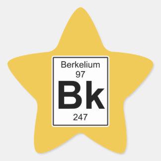 Bk - berkelio pegatina en forma de estrella