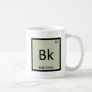 Bk - Bok Choy Vegetable Chemistry Periodic Table Coffee Mug