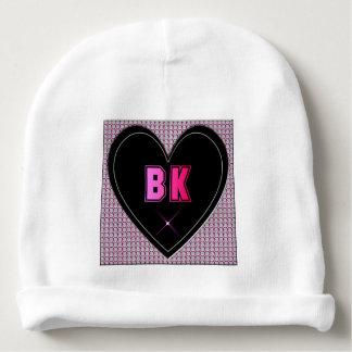BK Brooklyn Diamonds Heart Baby Beanie
