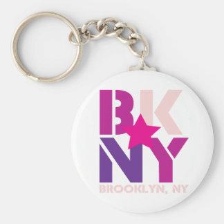BK Brooklyn Pink Keychain