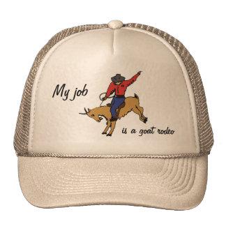 BK- gorra del trabajo del rodeo de la cabra