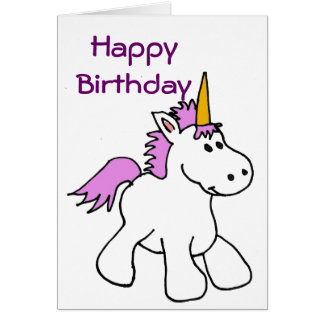 BK- Unicorn Birthday Card